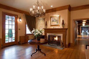 Glen Gordon Manor fireplace