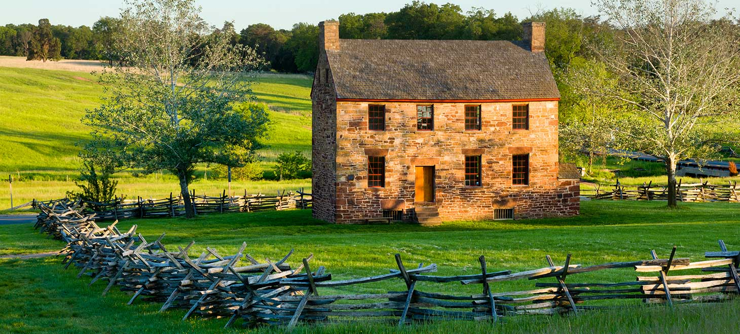 Old stone house at Manassas Battlefield