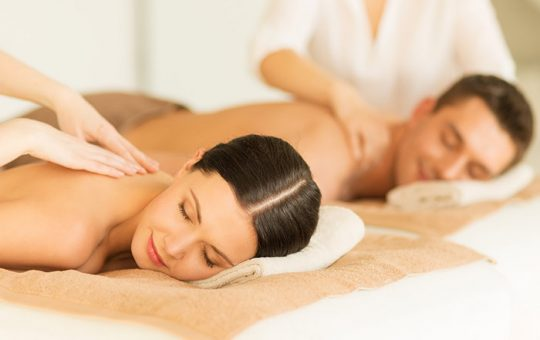 Couple enjoying a massage together
