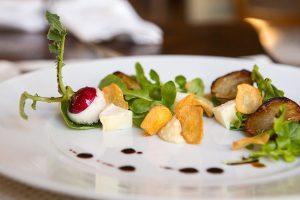 Plate of fancy food