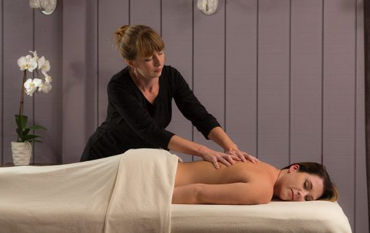Relaxing massage at the spa