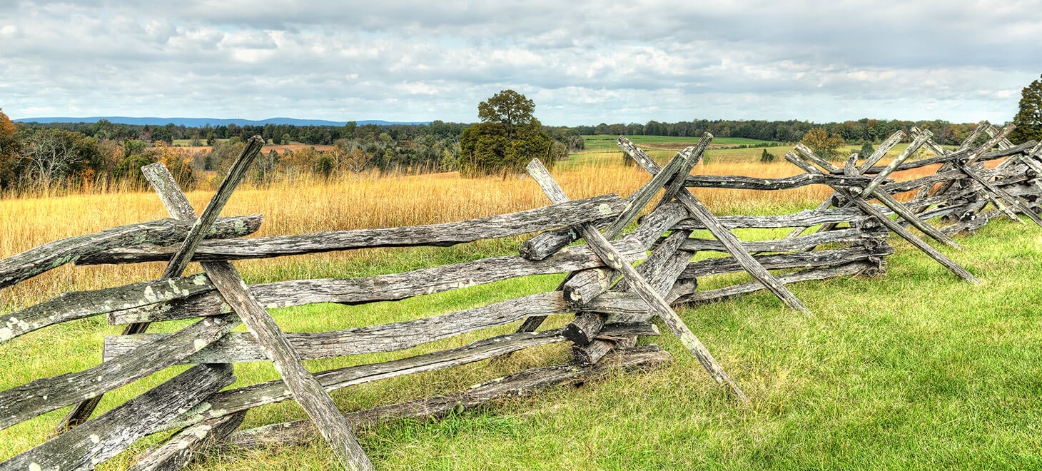 Old Fence in Manassas National Battlefield