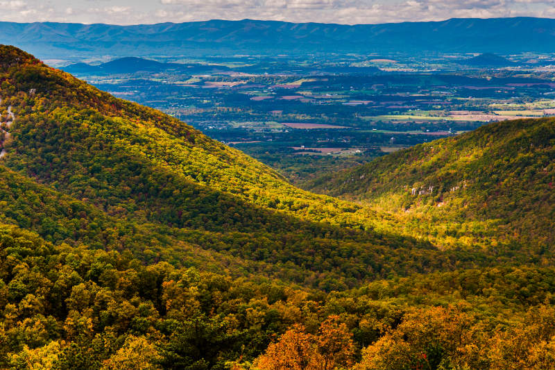 Views of Shenandoah Valley from Skyline Drive