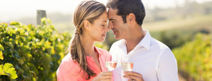 Couple at a winery
