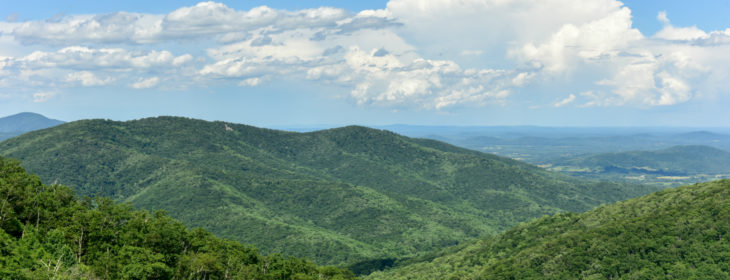 Scenic Mountains in the Shenandoah National Park