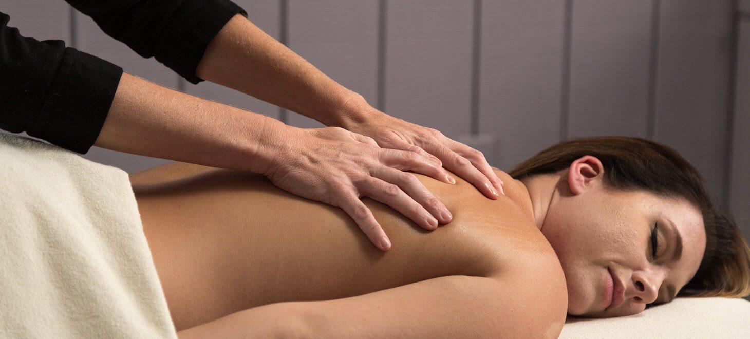 Woman enjoying a relaxing spa massage