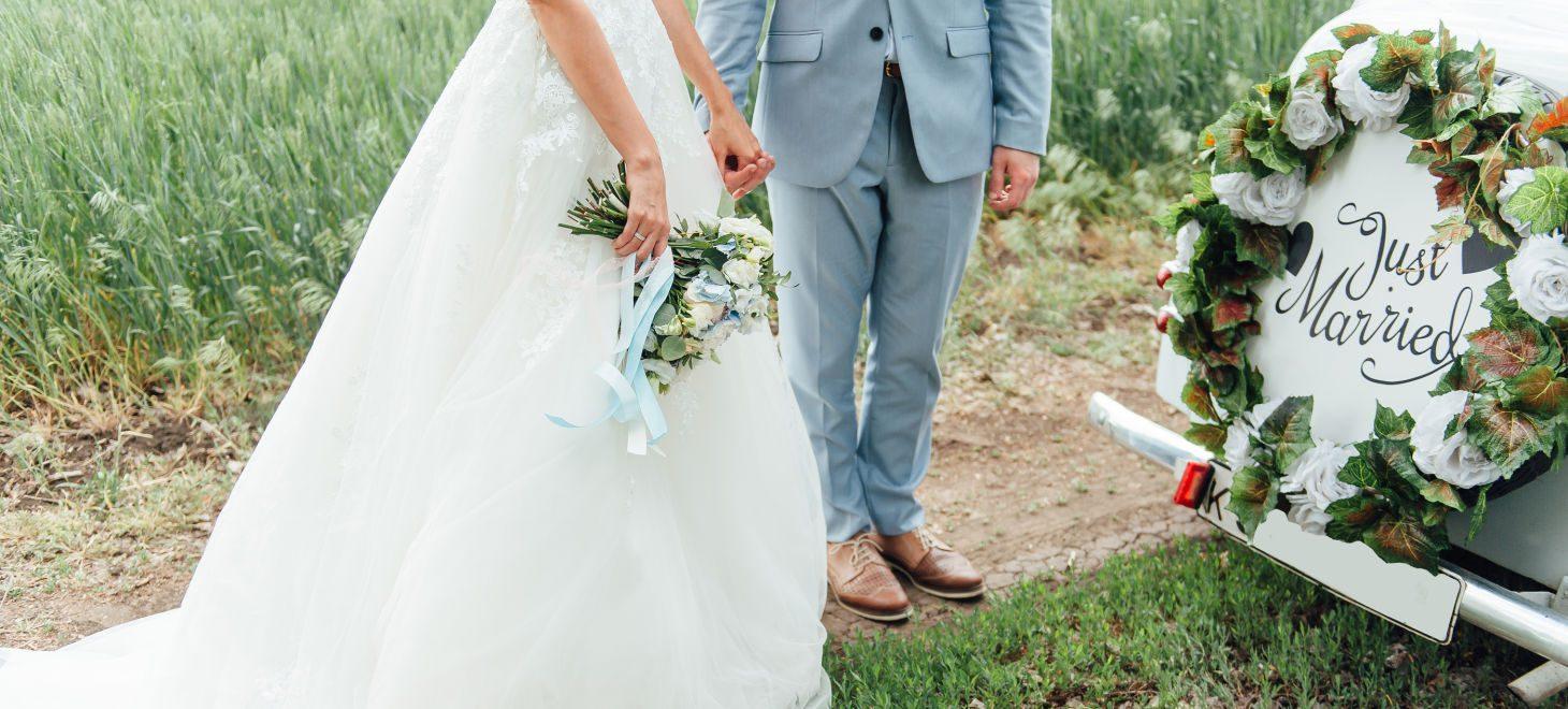 Wedding in Virginia - Couple Ready for a Honeymoon