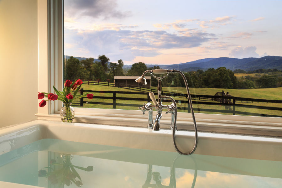 Romantic Honeymoon in Virginia - Tub with a view