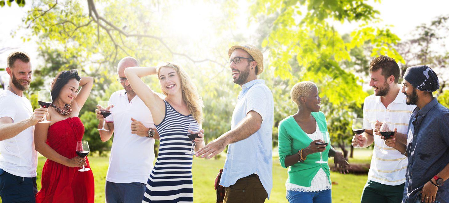 A group of people having fun