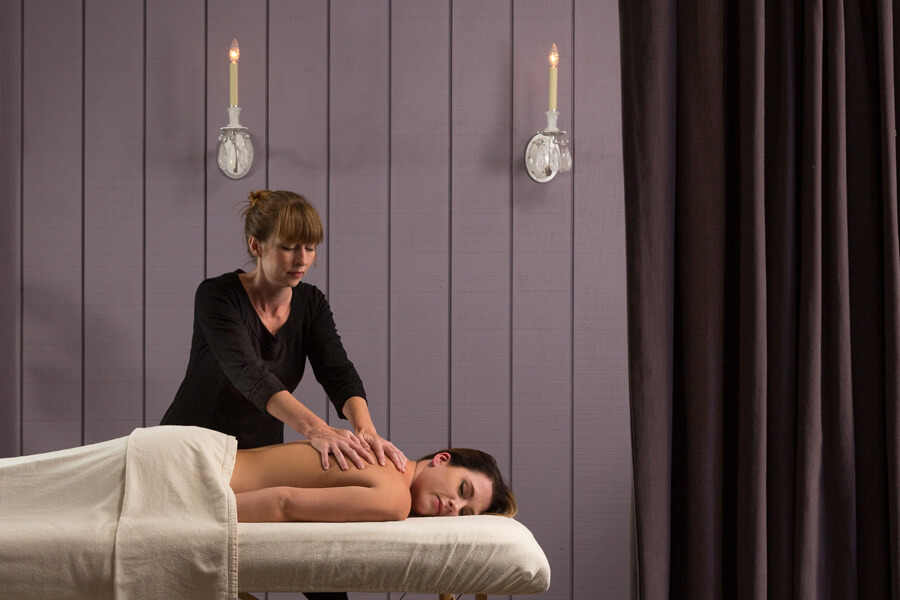 Relaxing massage at Tack Room Spa