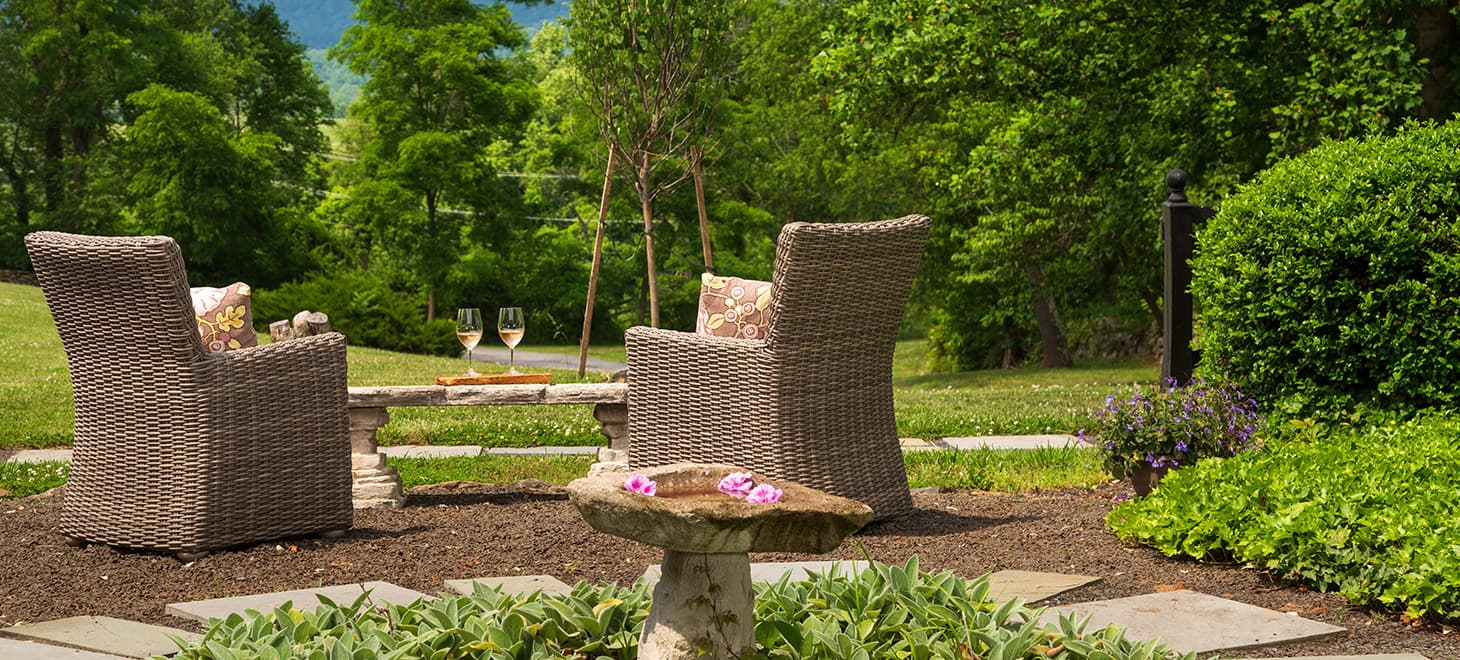 Huntly Suite outdoor seating area