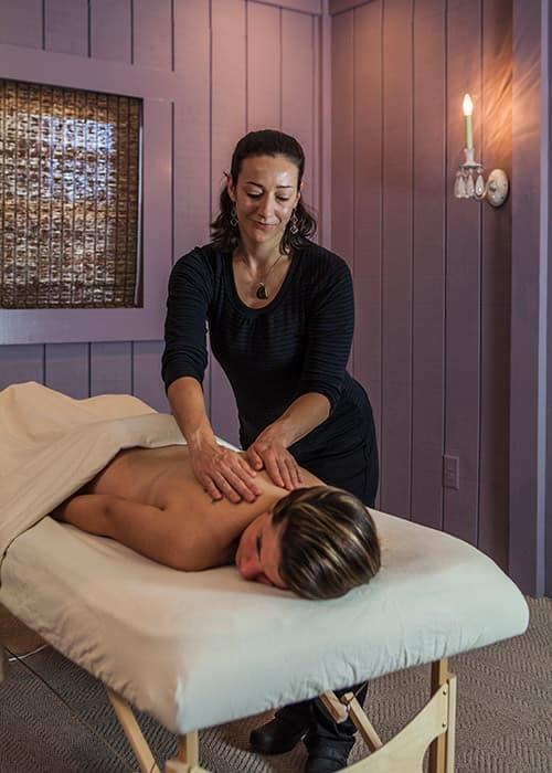 spa massage at Glen Gordon Manor